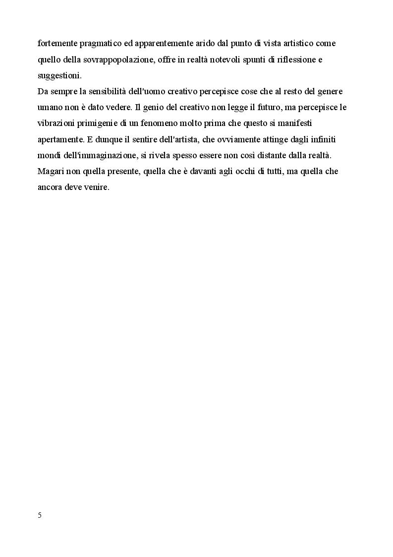 Anteprima della tesi: Sovrappopolazione e consumismo, i due volti dell'apocalisse antropica. Prefigurazioni in Moravia, Pasolini e nella letteratura fantascientifica, Pagina 3