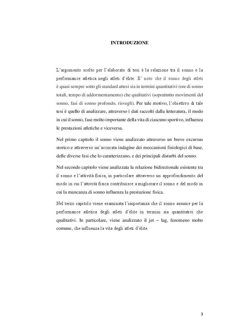 Anteprima della tesi: Sonno, attività fisica e performance atletica, Pagina 2