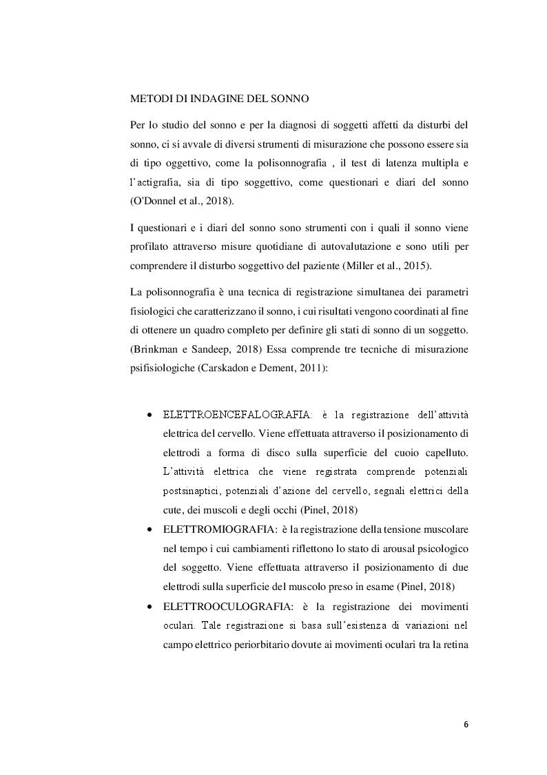 Anteprima della tesi: Sonno, attività fisica e performance atletica, Pagina 5