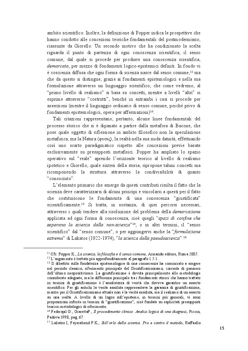 Anteprima della tesi: Analisi epistemologica dei fondamenti teorico-metodologici della psichiatria. Dal costrutto senza episteme della ''medicina della mente'' alla fondazione della configurazione discorsiva esemplificata nello studio della Disforia di Genere, Pagina 8