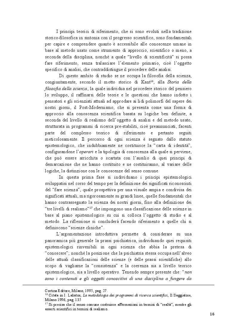 Anteprima della tesi: Analisi epistemologica dei fondamenti teorico-metodologici della psichiatria. Dal costrutto senza episteme della ''medicina della mente'' alla fondazione della configurazione discorsiva esemplificata nello studio della Disforia di Genere, Pagina 9
