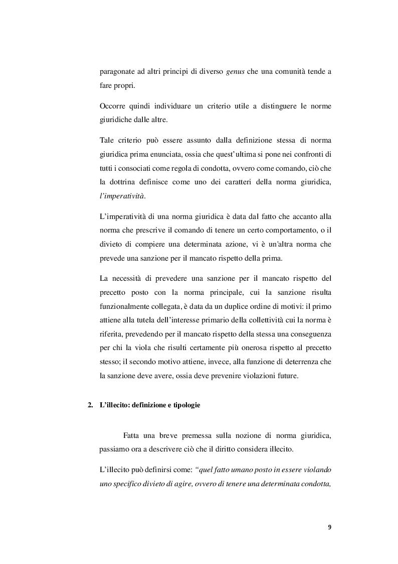 Anteprima della tesi: I rapporti tra sanzioni amministrative tributarie e penali tributarie - La problematica del ''Ne Bis in Idem'', Pagina 3