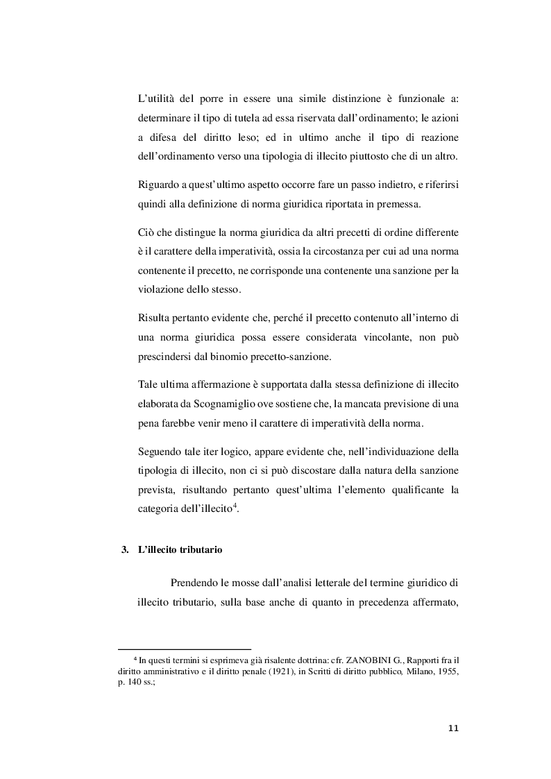 Anteprima della tesi: I rapporti tra sanzioni amministrative tributarie e penali tributarie - La problematica del ''Ne Bis in Idem'', Pagina 5