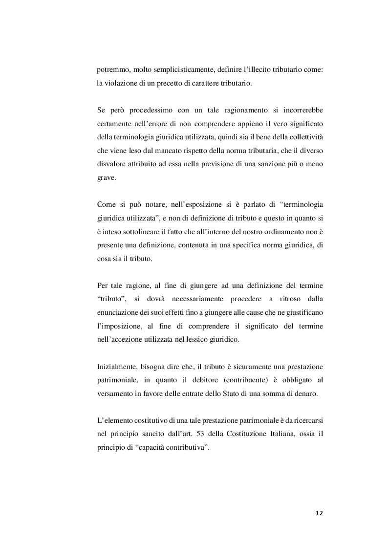 Anteprima della tesi: I rapporti tra sanzioni amministrative tributarie e penali tributarie - La problematica del ''Ne Bis in Idem'', Pagina 6