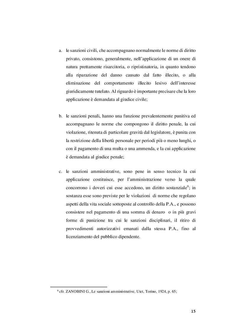 Anteprima della tesi: I rapporti tra sanzioni amministrative tributarie e penali tributarie - La problematica del ''Ne Bis in Idem'', Pagina 9