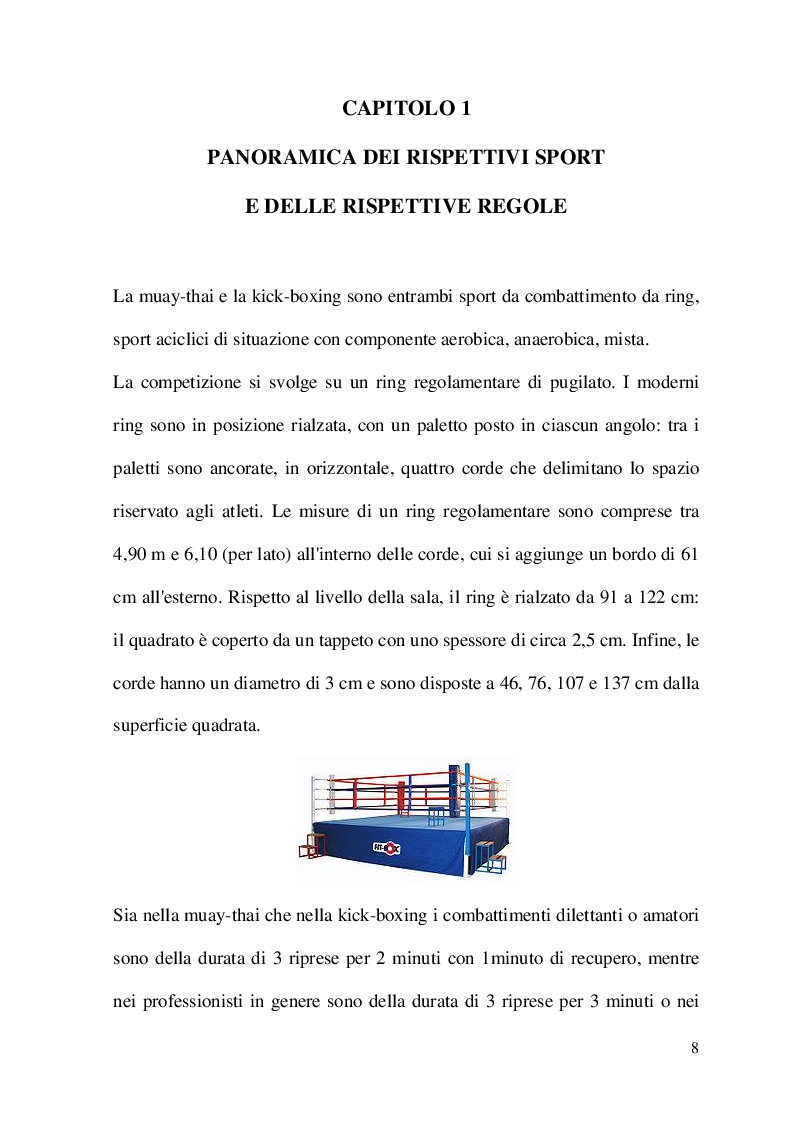 Anteprima della tesi: Metodologia di allenamento per la Kick-boxing e la Muay-thai, Pagina 2