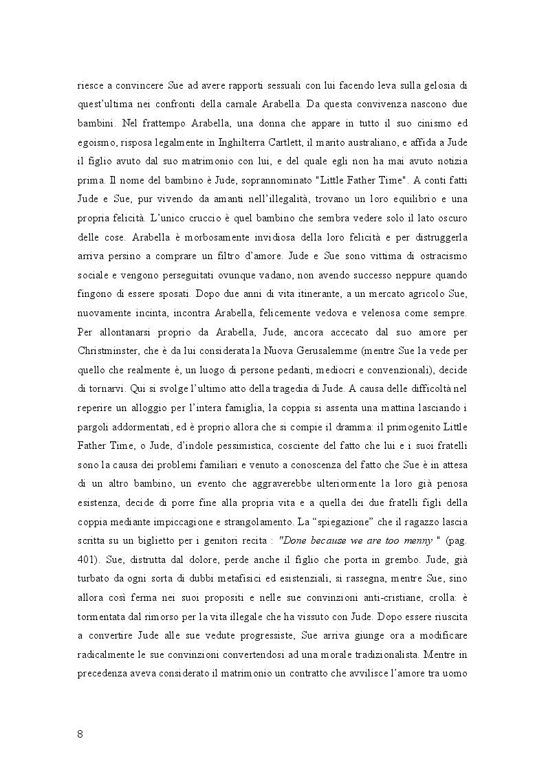 Estratto dalla tesi: Geometrie narrative in ''Jude the Obscure'' di Thomas Hardy