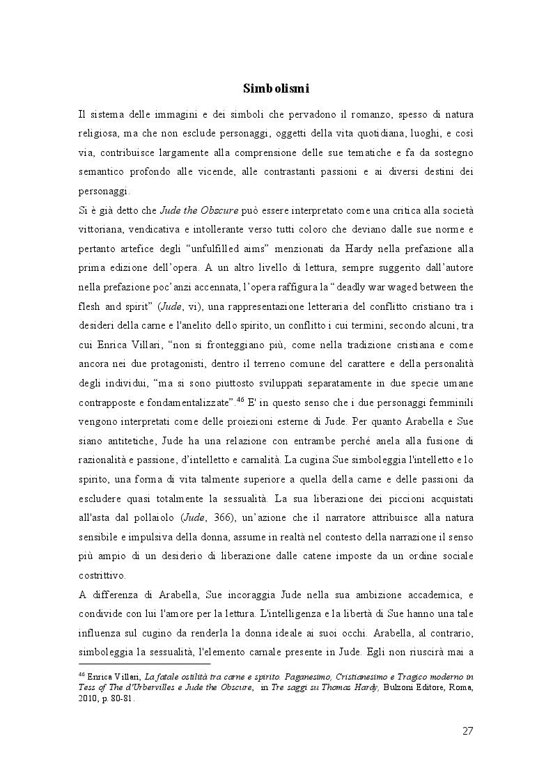 Anteprima della tesi: Geometrie narrative in ''Jude the Obscure'' di Thomas Hardy, Pagina 2