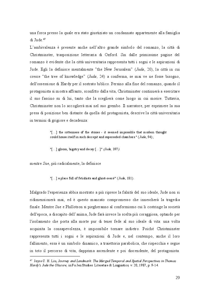 Anteprima della tesi: Geometrie narrative in ''Jude the Obscure'' di Thomas Hardy, Pagina 4