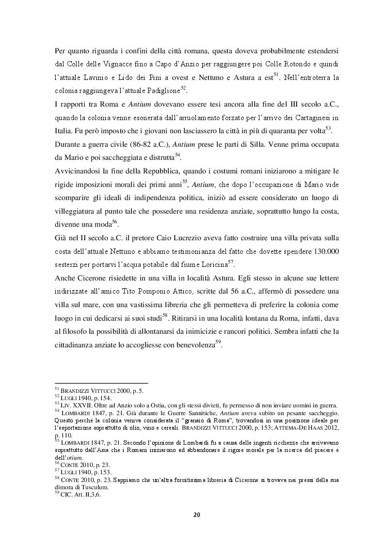 Estratto dalla tesi: Contributo alla carta archeologica di Antium