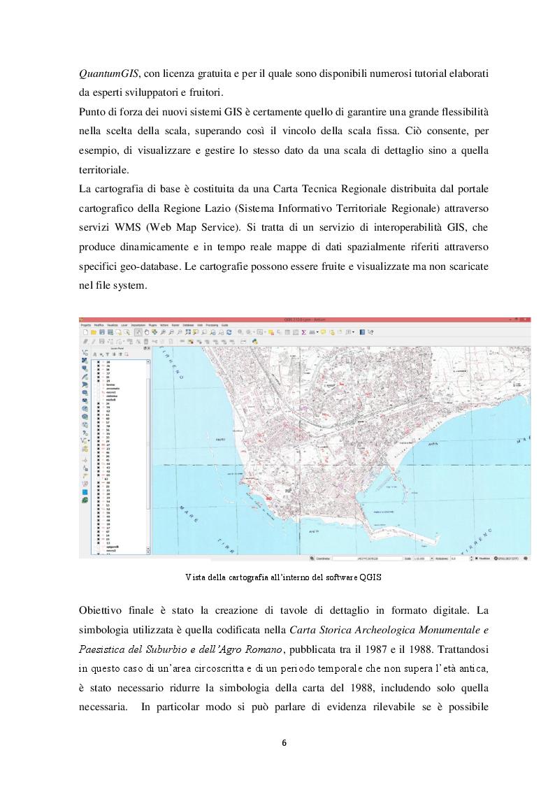 Anteprima della tesi: Contributo alla carta archeologica di Antium, Pagina 6