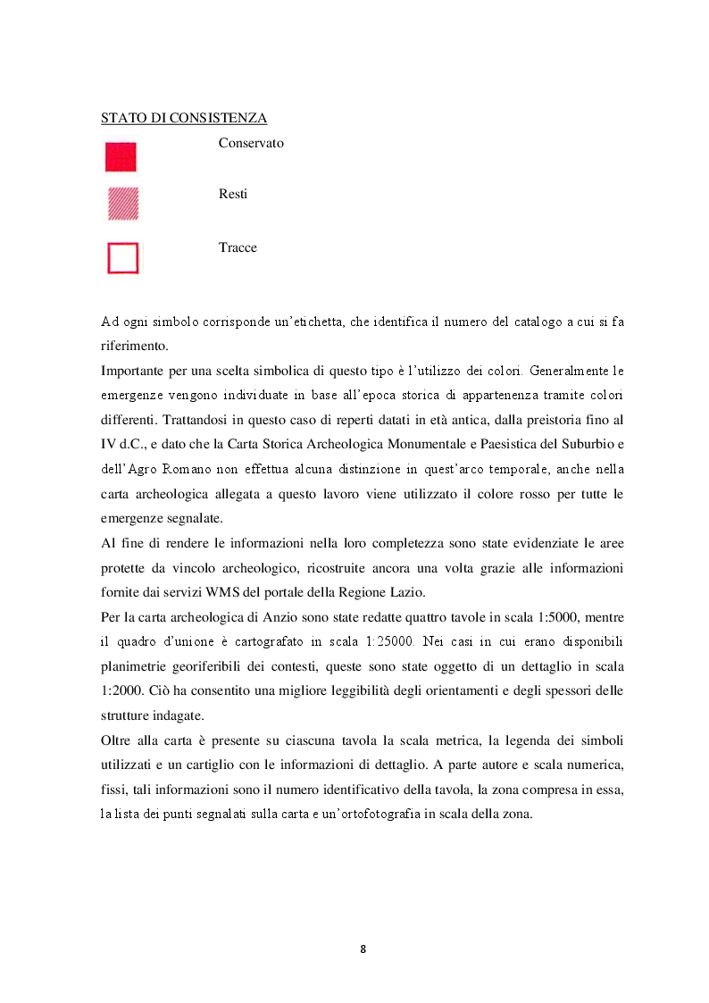 Anteprima della tesi: Contributo alla carta archeologica di Antium, Pagina 8