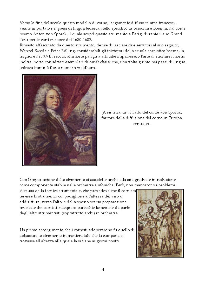 Anteprima della tesi: I Concerti Per Corno Di Wolfgang Amadeus Mozart, Pagina 5