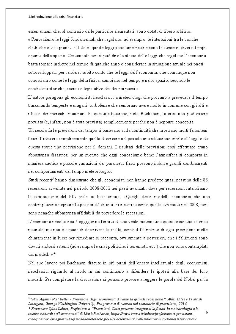 Anteprima della tesi: Instabilità dei mercati finanziari: lezioni dalla crisi dei mutui subprime, Pagina 7