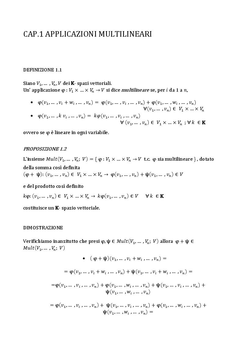 Anteprima della tesi: L'algebra tensoriale, Pagina 3