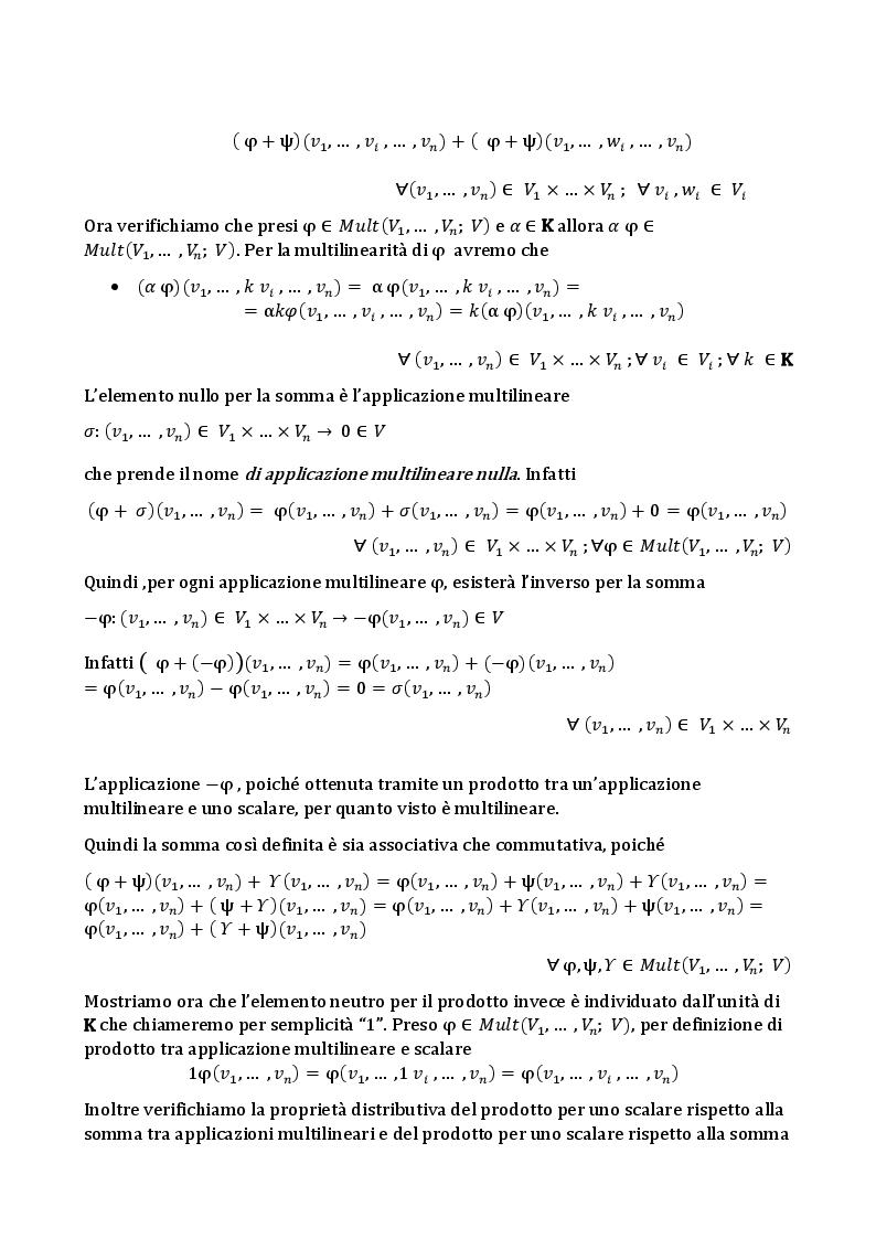 Anteprima della tesi: L'algebra tensoriale, Pagina 4
