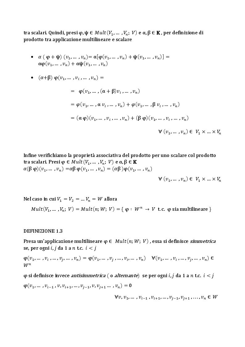 Anteprima della tesi: L'algebra tensoriale, Pagina 5