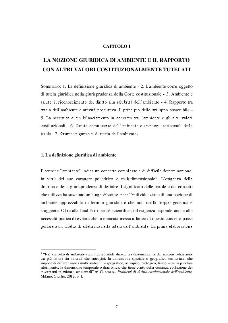 Anteprima della tesi: La responsabilità delle imprese in materia di tutela dell'ambiente, Pagina 4