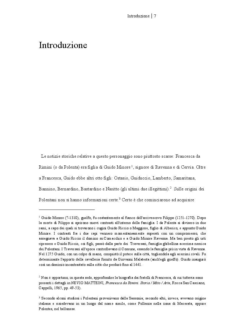 Anteprima della tesi: Francesca da Rimini, Pagina 2