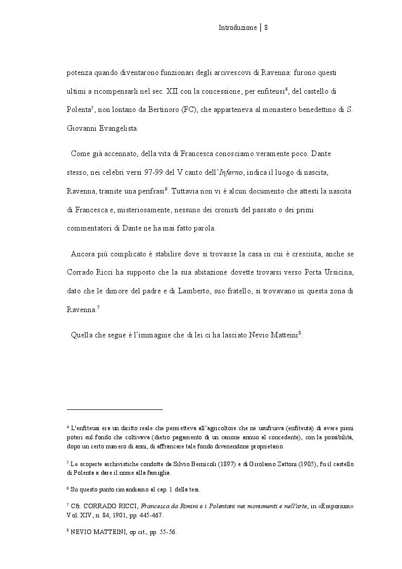Anteprima della tesi: Francesca da Rimini, Pagina 3