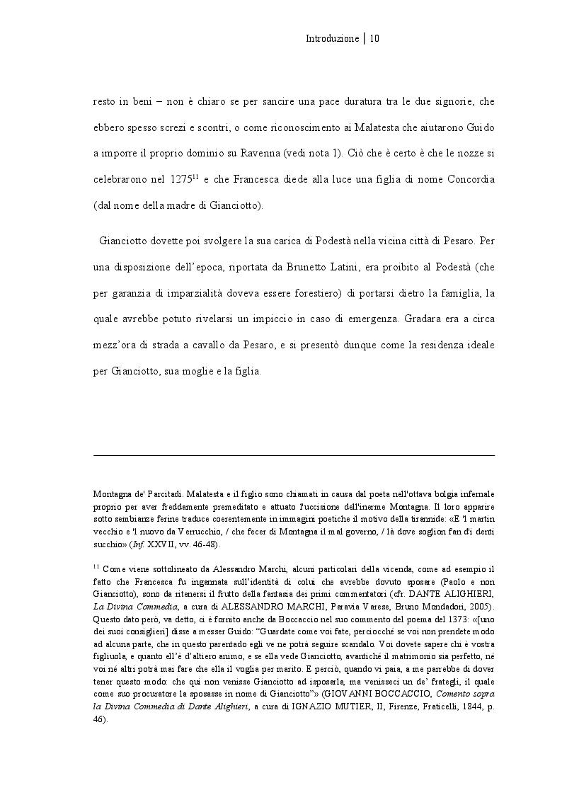 Anteprima della tesi: Francesca da Rimini, Pagina 5