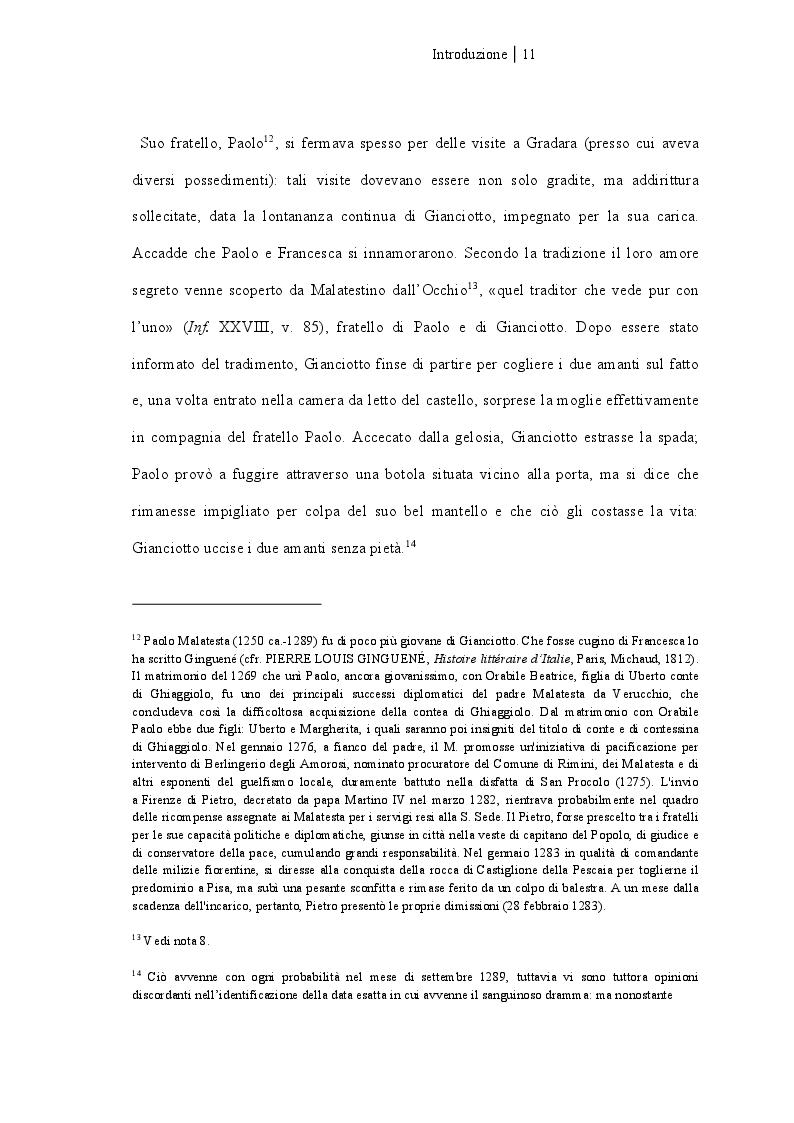 Anteprima della tesi: Francesca da Rimini, Pagina 6