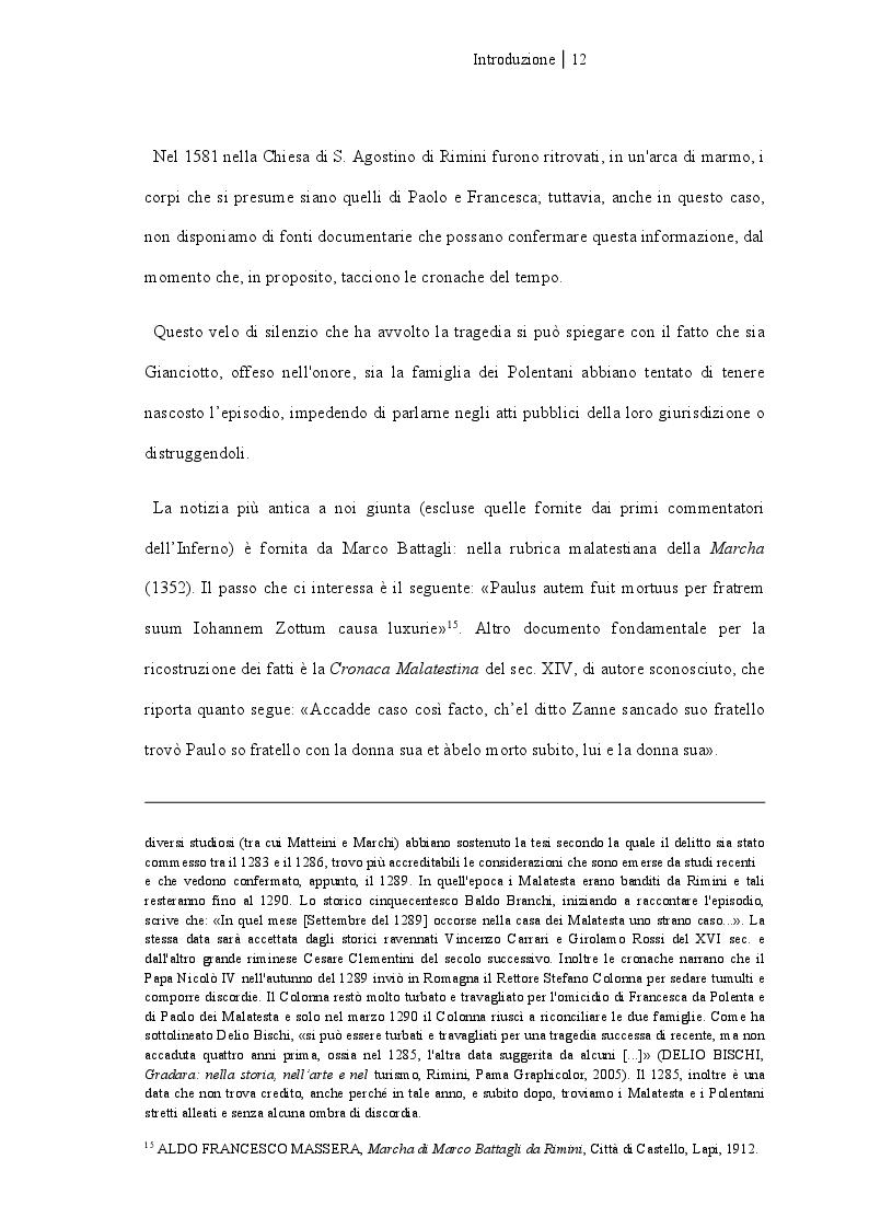 Anteprima della tesi: Francesca da Rimini, Pagina 7