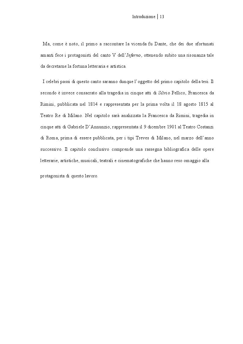 Anteprima della tesi: Francesca da Rimini, Pagina 8