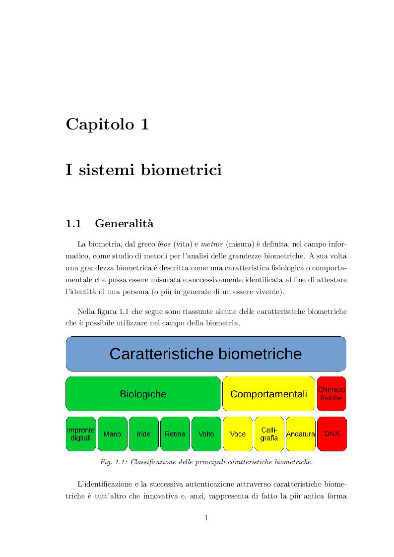 Anteprima della tesi: Classificazione di volti mediante sistemi biometrici multimodali, Pagina 5