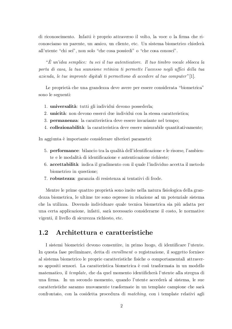 Anteprima della tesi: Classificazione di volti mediante sistemi biometrici multimodali, Pagina 6