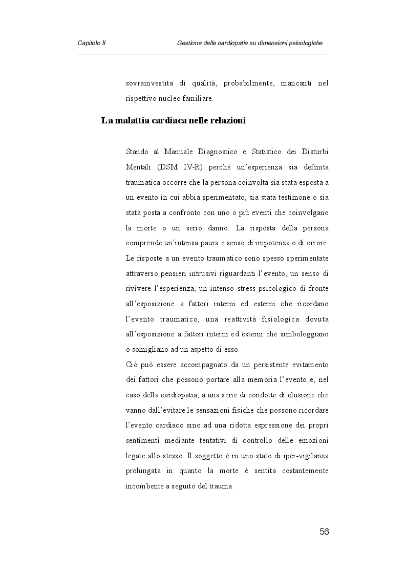 Estratto dalla tesi: Psicologia e cardiologia: analisi di un caso