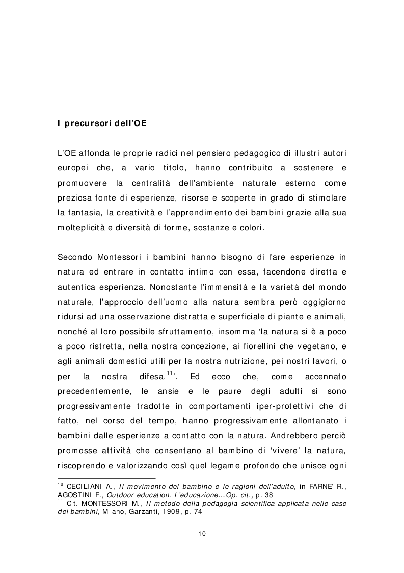 Anteprima della tesi: Dai banchi ai campi. L'Outdoor Education come esperienza educativa e pratica didattica, Pagina 2