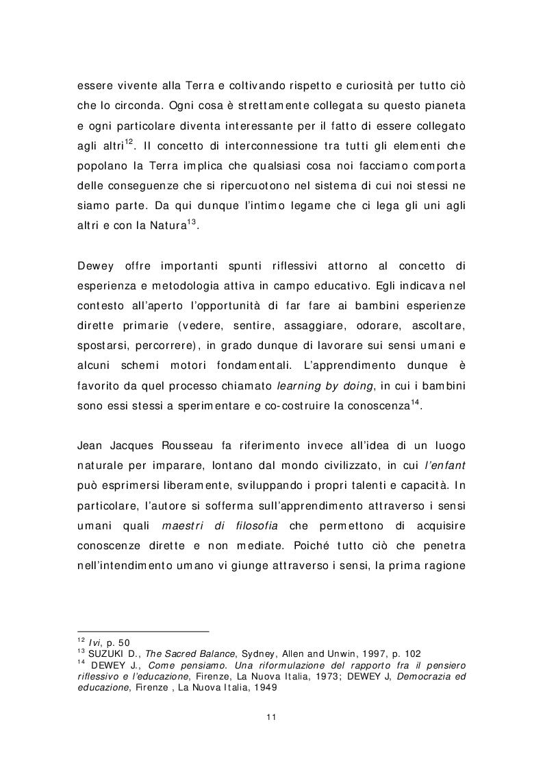 Anteprima della tesi: Dai banchi ai campi. L'Outdoor Education come esperienza educativa e pratica didattica, Pagina 3