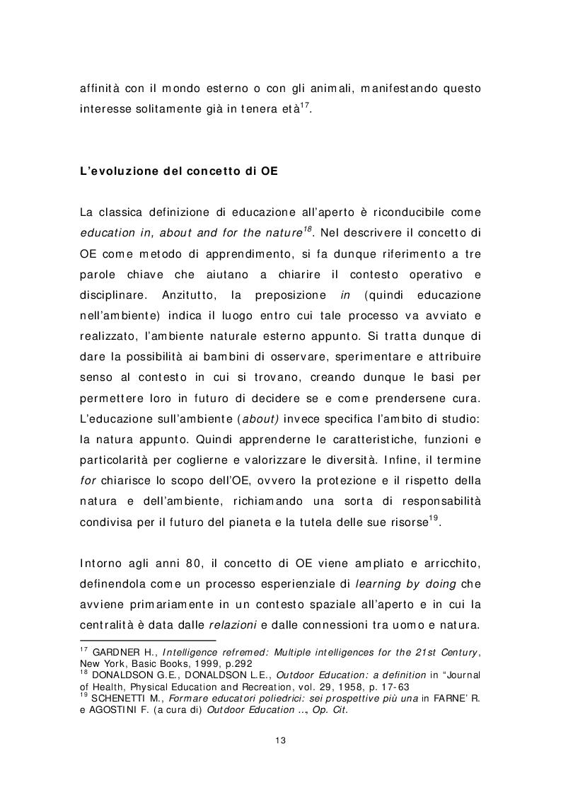 Anteprima della tesi: Dai banchi ai campi. L'Outdoor Education come esperienza educativa e pratica didattica, Pagina 5