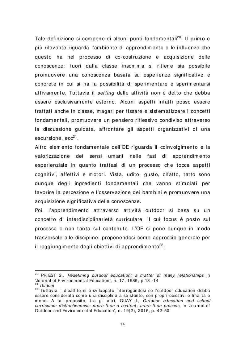 Anteprima della tesi: Dai banchi ai campi. L'Outdoor Education come esperienza educativa e pratica didattica, Pagina 6