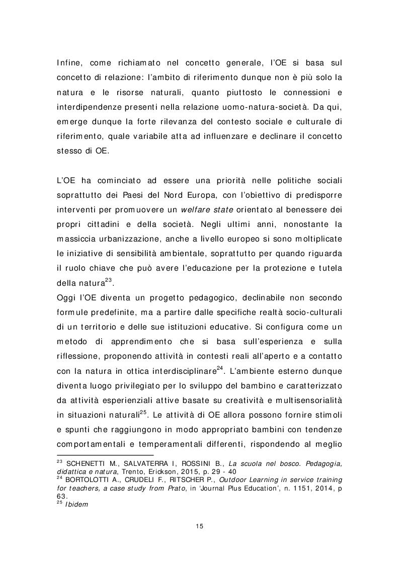 Anteprima della tesi: Dai banchi ai campi. L'Outdoor Education come esperienza educativa e pratica didattica, Pagina 7