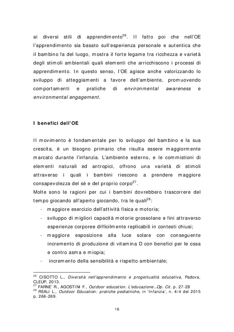 Anteprima della tesi: Dai banchi ai campi. L'Outdoor Education come esperienza educativa e pratica didattica, Pagina 8