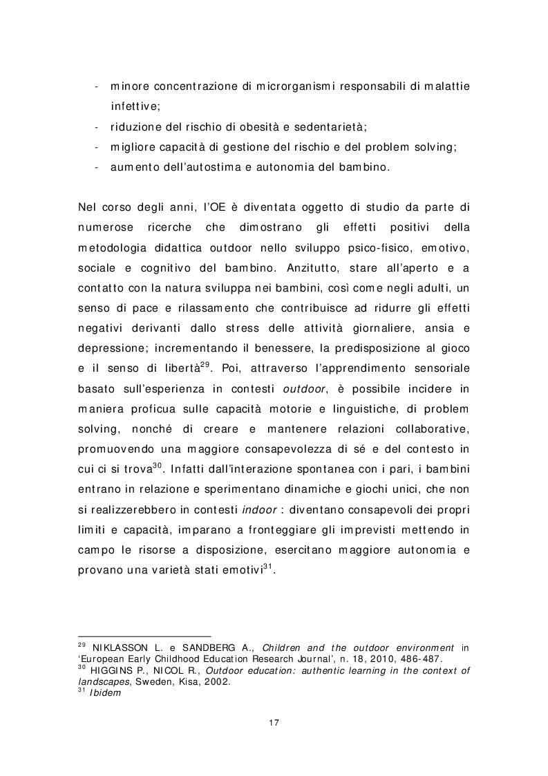 Anteprima della tesi: Dai banchi ai campi. L'Outdoor Education come esperienza educativa e pratica didattica, Pagina 9
