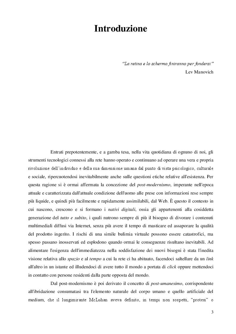 Anteprima della tesi: Una questione etica: la rete tra potenzialità virtuali e pericoli reali, Pagina 2