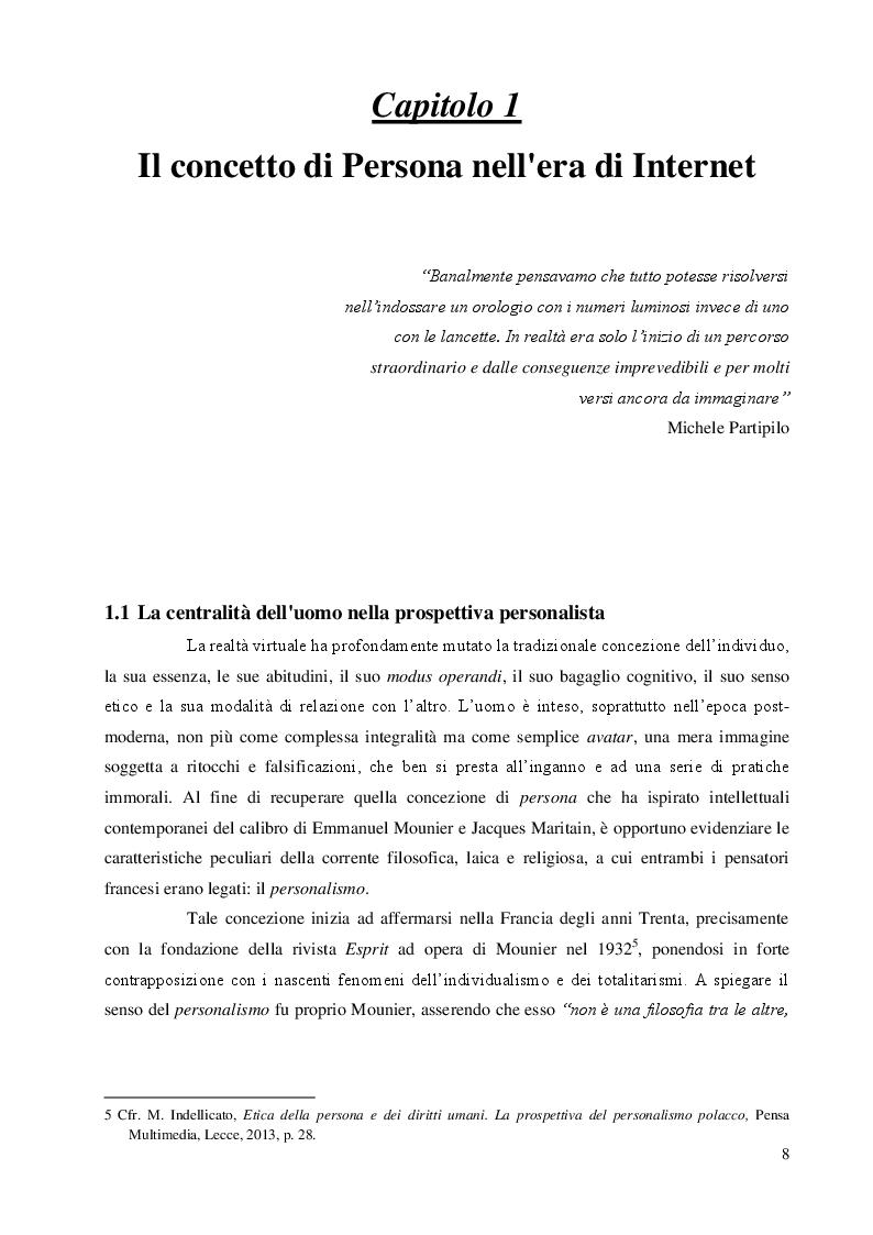 Anteprima della tesi: Una questione etica: la rete tra potenzialità virtuali e pericoli reali, Pagina 7