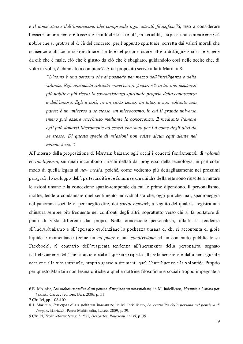 Anteprima della tesi: Una questione etica: la rete tra potenzialità virtuali e pericoli reali, Pagina 8