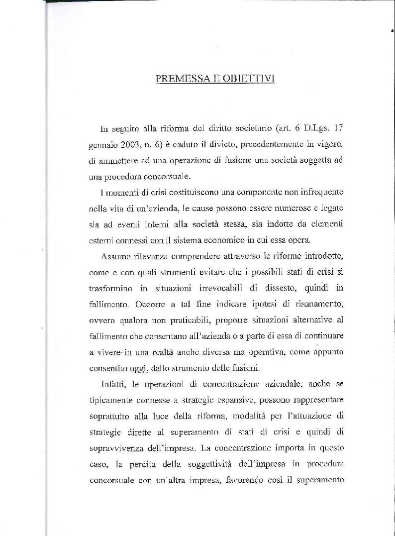 Anteprima della tesi: Fusione, liquidazione e crisi d'impresa, Pagina 2