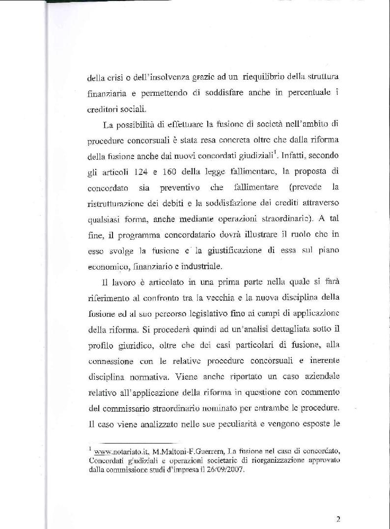 Anteprima della tesi: Fusione, liquidazione e crisi d'impresa, Pagina 3