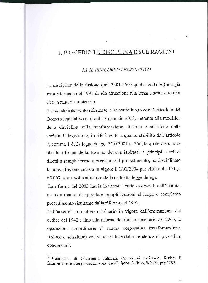 Anteprima della tesi: Fusione, liquidazione e crisi d'impresa, Pagina 5