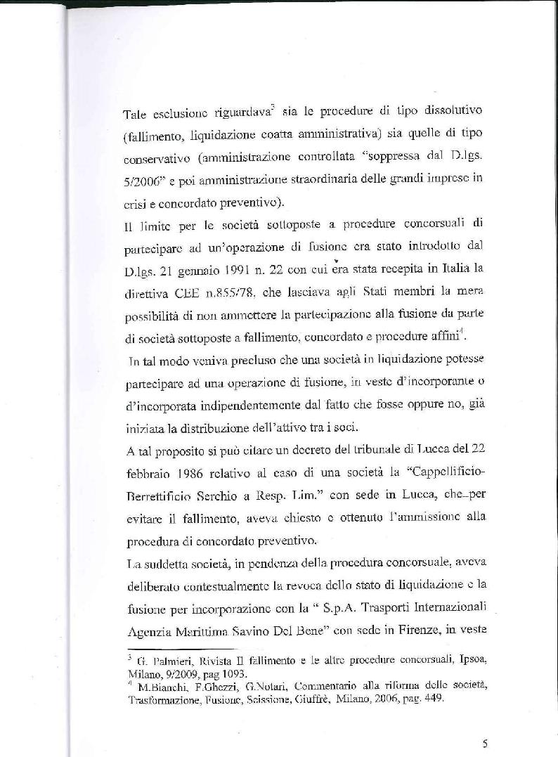 Anteprima della tesi: Fusione, liquidazione e crisi d'impresa, Pagina 6
