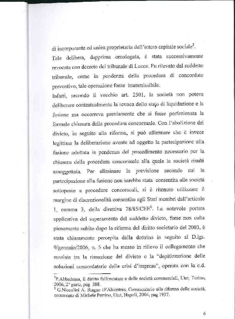 Anteprima della tesi: Fusione, liquidazione e crisi d'impresa, Pagina 7