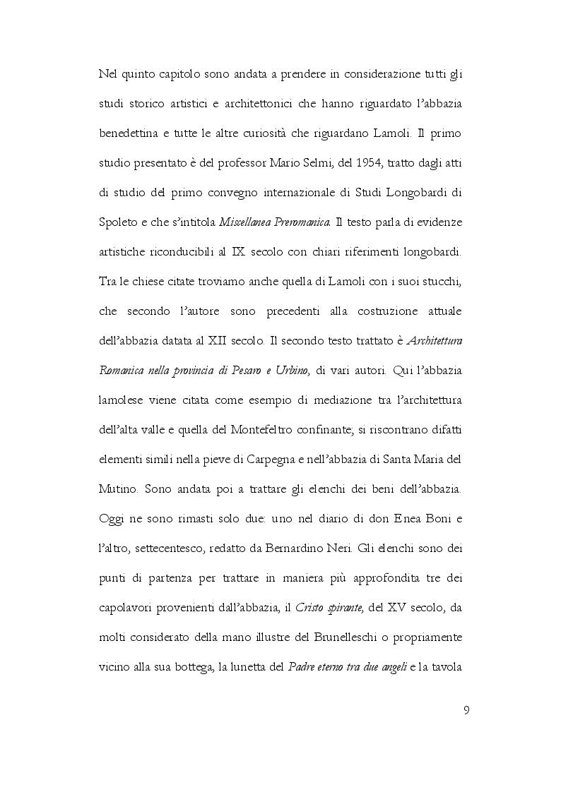 Anteprima della tesi: La Storiografia sulla Massa Trabaria con particolare riferimento dell'Abbazia Benedettina di San Michele Arcangelo di Lamoli, Pagina 6