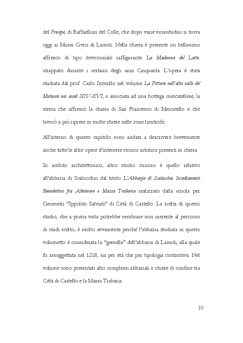 Anteprima della tesi: La Storiografia sulla Massa Trabaria con particolare riferimento dell'Abbazia Benedettina di San Michele Arcangelo di Lamoli, Pagina 7