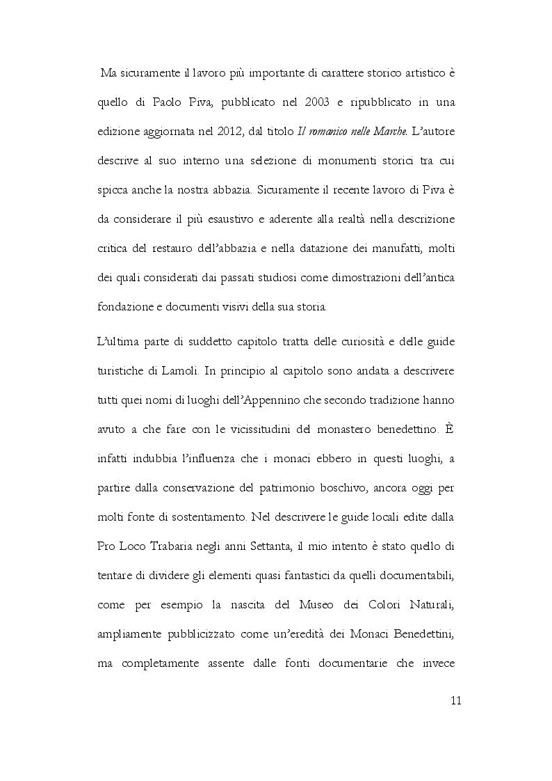 Anteprima della tesi: La Storiografia sulla Massa Trabaria con particolare riferimento dell'Abbazia Benedettina di San Michele Arcangelo di Lamoli, Pagina 8