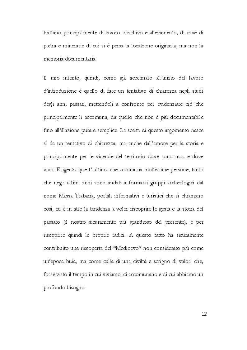 Anteprima della tesi: La Storiografia sulla Massa Trabaria con particolare riferimento dell'Abbazia Benedettina di San Michele Arcangelo di Lamoli, Pagina 9